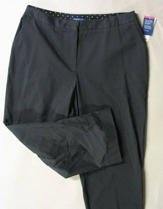 Charter Club Black Cropped Capris Sz 8