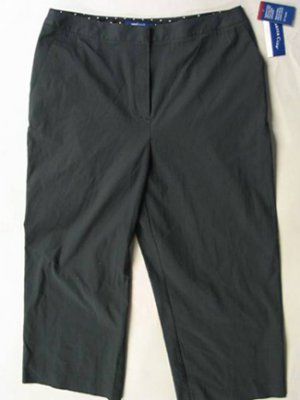 Charter Club Black Cropped Capris Sz 12
