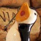 Penguin Penquin Vintage Singing Bird Pin Brooch