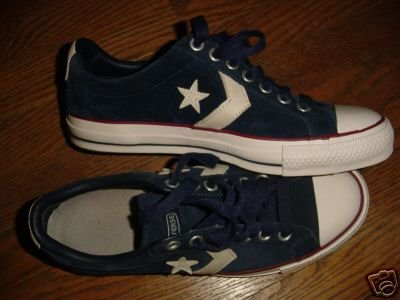 Converse All Star Blue Suede lo top NM++ sz 7.5 ~ FREE SHIPPING