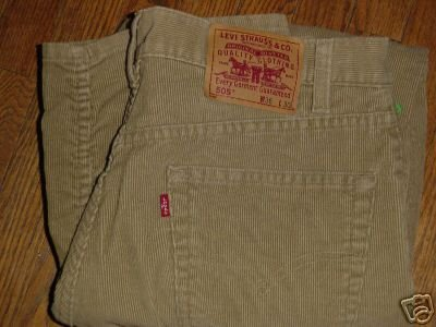 Levis 505 Tan corduroy 36 x 30 levi's reg fit st8 cords ~ FREE SHIPPING