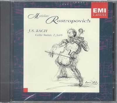 ROSTROPOVICH cd BACH CELLO-SUITEN 2, 3 & 6  $8.99 ~ FREE SHIPPING