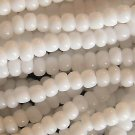 11/0 Czech Glass Seed Beads Opaque White