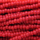 11/0 CZECH GLASS SEED BEADS OPAQUE MEDIUM RED 1 HANK
