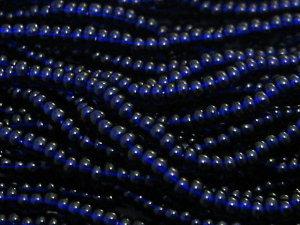11/0 CZECH GLASS SEED BEADS TRANSPARENT DEEP COBALT 1 HANK
