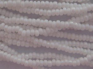 11/0 CZECH GLASS SEED BEADS AURORA BOREALIS CHALK WHITE 1 HANK