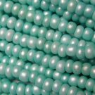 11/0 CZECH GLASS SEED BEADS SILK TURQUOISE GREEN 1 HANK