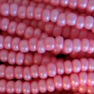 11/0 CZECH GLASS SEED BEADS SILK PINK 1 HANK