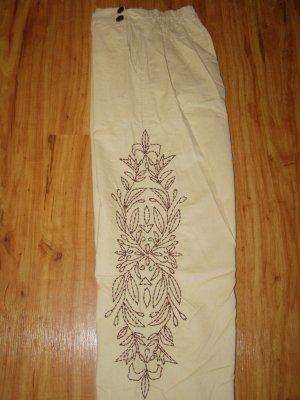 Soft Surroundings Embroidered Corduroy Pants Khaki  PS 6 8