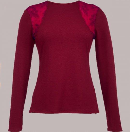Soft Surroundings Celine Tops Shirt Misses Long Sleeves Wine L 14 16