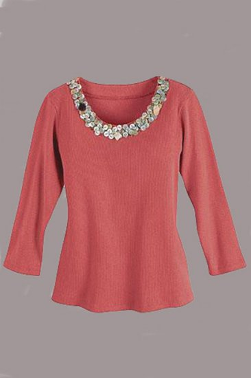 Soft Surroundings Balinese Tops Shirt Terracotta Misses S 6 8