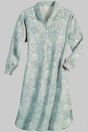 Soft Surroundings Florentine Flannel Nightshirt Sleepwear Misses S 6 8