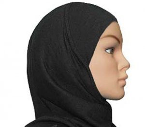 Amira Hijab 1 piece Poly Black