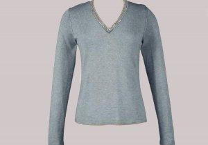 Soft Surroundings Rhinestone Silk Cashmere Sweater Misses L 14 16