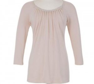 Soft Surroundings Necklace Tops Shirt Plus Size Women 1X 18
