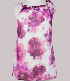 Soft Surroundings Pretty in Pink Top Shirt Plus Size Women 1X 18 20