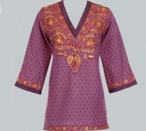 Soft Surroundings Mystique Tunic Shirt Top Misses M 10 12