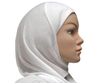 Amira Hijab 1 piece Cotton White