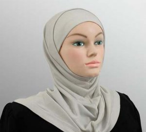 Amira Hijab 2 piece Poly Dove Gray