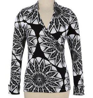 Soft Surroundings Wrap Top Shirt Misses L 14 16