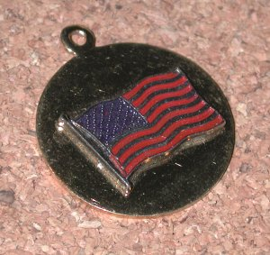 Vintage enamel American Flag Charm