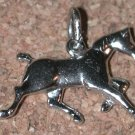 Horse Running Sterling silver Charm 3D figure Vintage FREE SHIPPING