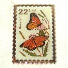 22 cent US Postal Stamp Monarch Butterfly enamel Pin Brooch
