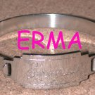 Bangle ID Bracelet ERMA silver-tone Vintage engraved name