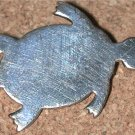 Sterling silver TURTLE tortoise Pin Vintage signed WRE