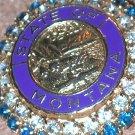 VINTAGE blue Rhinestone Montana State signed Coro