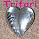 Silver Tone TRIFARI Heart Pin Brooch Vintage Valentine