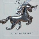 Unicorn Sterling silver Charm Pendant vintage Stanlee