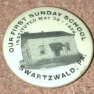 OLD Photo button PIN Sunday School Swartzwald PA 1854