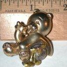 Teddy Bear eating Honey Pin  Signed Danecraft vintage