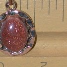 Pendant Necklace Goldstone stone vintage Hoffman creations