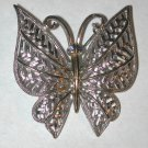 Vintage signed Butterfly silver/gold-tone Pin/Brooch