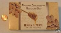 Venzia Soapworks Huge (10 oz.) Bar HONEY ALMOND Soap