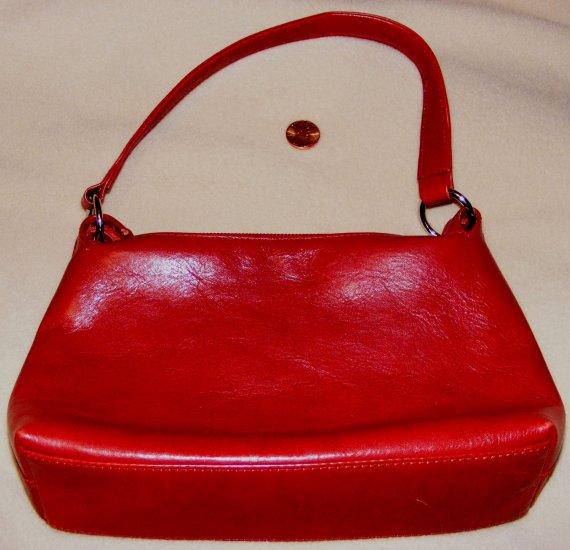 BANANA REPUBLIC Small Dark Red Leather Handbag