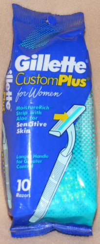 GILLETTE Razors: Custom Plus 10 for Women Sensitive Skin