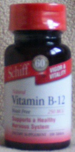 SCHIFF Vitamin B-12 (250 MCG) Supplement - 100 Tablets