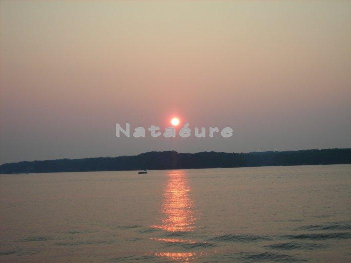 Sunset on Lake Gaston 8x10