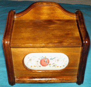 International China Marmalade Wood Recipe Box