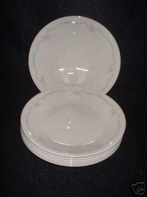 Corelle English Breakfast Bread Butter Plates x 8