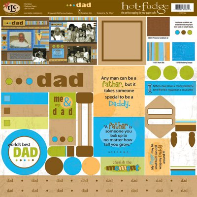 TLC HOT FUDGE Dad 12 x12 Kit