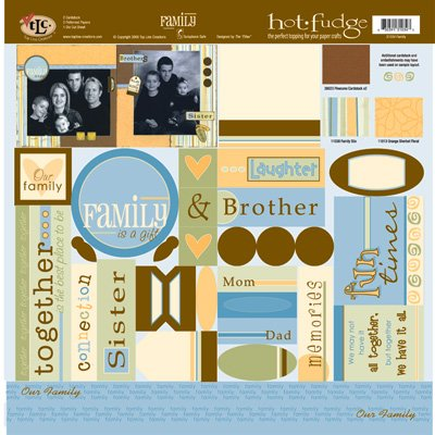TLC HOT FUDGE Family 12 x12 Kit