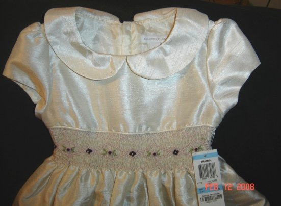 NWT Charter Club Ivory Smocked Easter Dress Size 5