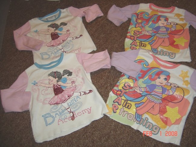 Twin Girls Lot 24M Childrens Place Longsleeve tees EUC