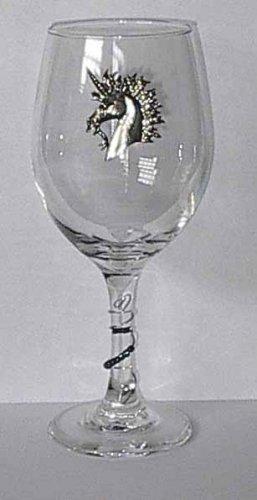 Pewter Unicorn   Wine Glass Free Shipping