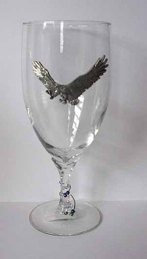Pewter Eagle Wine Glass Free Shipping