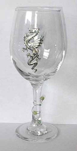 Pewter Dragon Wine Glasses  Free Shipping